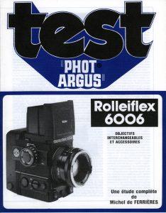 Manuel ROLLEIFLEX 6006