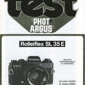 Manuel ROLLEIFLEX SL-35E