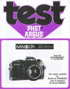Manuel MINOLTA X700